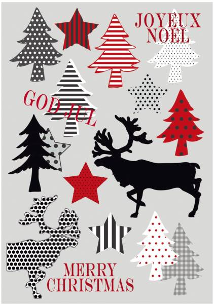HERMA Weihn.Etiketten Merry Christmas 15267 Decor