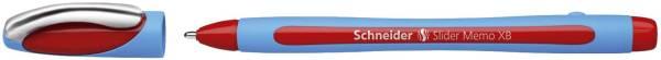 Kugelschreiber Slider Memo XB, Kappenmodell, 0,7 mm, rot