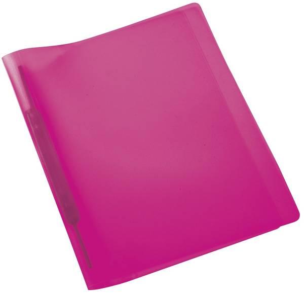 Spiralschnellhefter A4, transluzent, pink