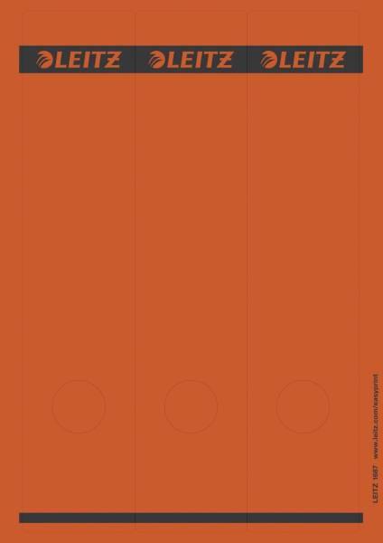 1687 PC beschriftbare Rückenschilder Papier, lang breit, 75 Stück, rot