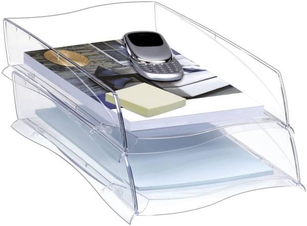 Briefkorb Ellypse A4 C4, glasklar