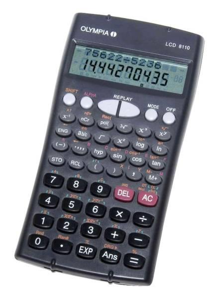 OLYMPIA Tischrechner 10-stellig 40618 LCD8110 150x84x16mm