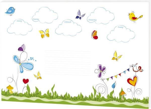RNK Schreibunterlage Schmetterlinge 46630 30Bl 60x42cm