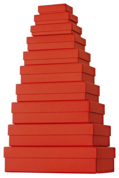 Geschenkkarton 10 tlg , flach, rot