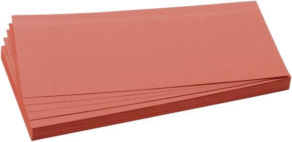 Moderationskarten selbsthaftend, rechteckig, 20,5 x 9,5 cm, rot, 100 Stück