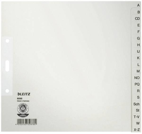 6095 Register A Z für Hängeordner, Papier, A4 halbe Höhe, 20 Blatt, grau