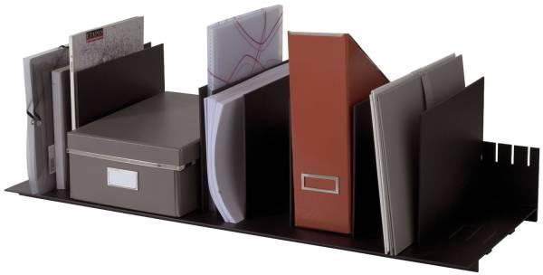 Belegfach flexibel für Rolladenschrank easyOffice schwarz