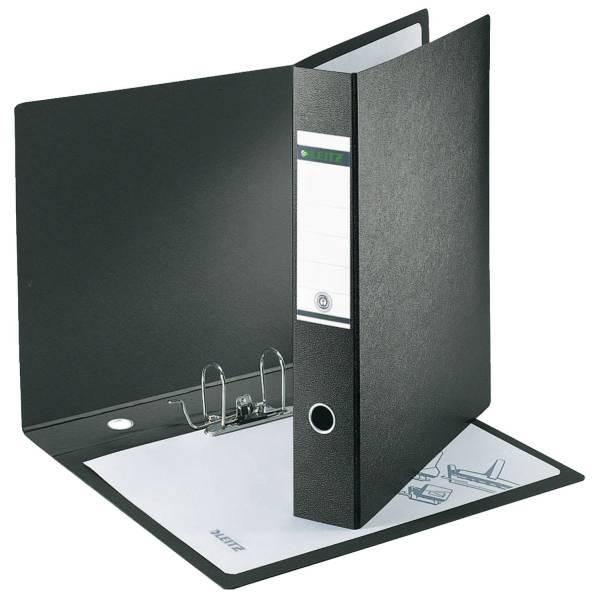 LEITZ Ordner Pappe A3 8cm schwarz 10720000 A3 hoch