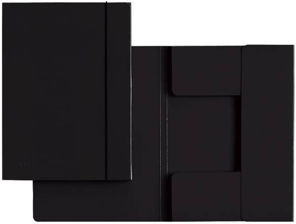 LEITZ Gummizugmappe A4 schwarz 39260095 A4 Hartp. 0,7mm