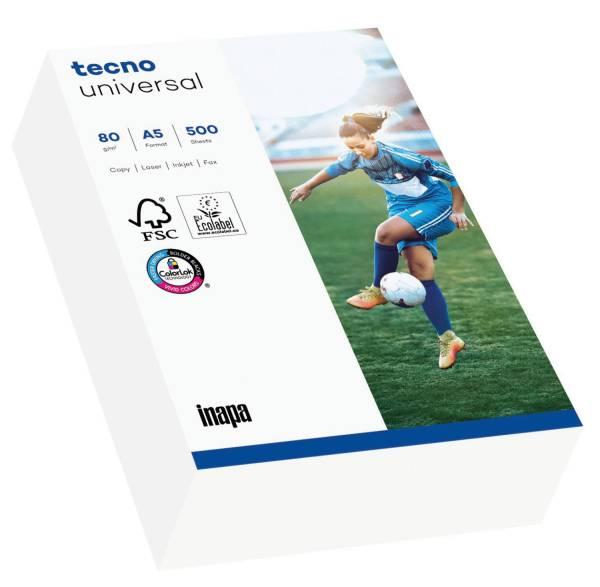 TECNO Kopierpapier Universal 80g A5 500BL weiß 2100011541 153 CIE-Weiße