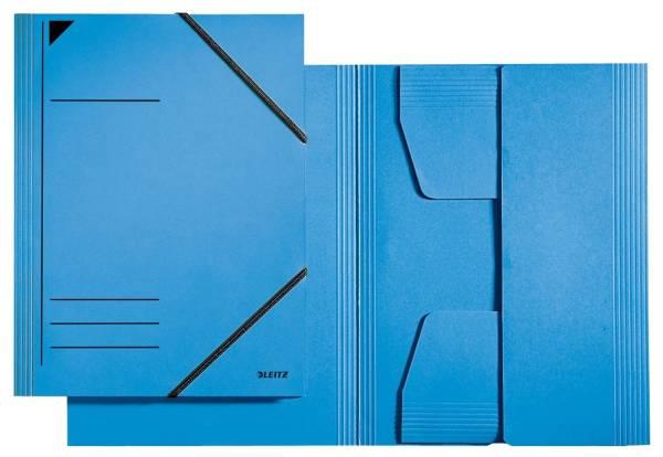 3981 Eckspannermappe A4, 250 Blatt, Pendarec Karton (RC), blau