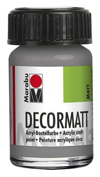 MARABU Decormatt Acryl hellgrau 1401 39 278 15ml Glas
