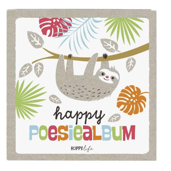 GOLDBUCH Poesiealbum Faultier Happylife 41580 16,5x16,5cm