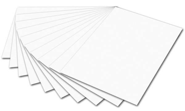 Tonpapier 50 x 70 cm, weiß