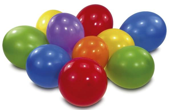 Luftballon regenbogenfarben, sortiert, 10 Stück