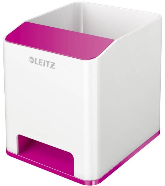 LEITZ Stifteköcher WOW Sound weiß/pink met. 5363-10-23 Duo Colour