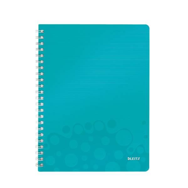 LEITZ Collegeblock A4 Wow eisblau metallic 4637-00-51 80Bl liniert