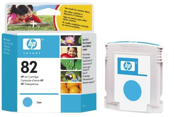 HP Inkjetpatrone Nr. 82 cyan C4911A 69ml