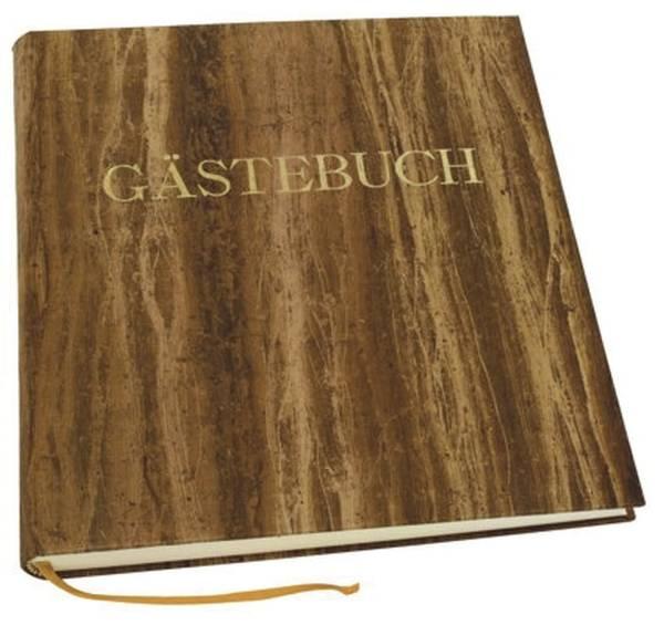 Gästebuch braun, 270 Seiten, blanko, Einband Papyrus