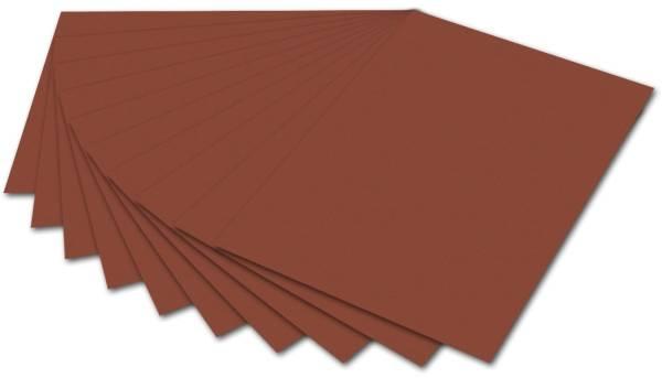 Tonpapier 50 x 70 cm, rotbraun