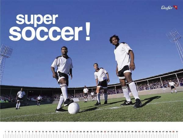 LÄUFER Schreibunterlage Motiv Fußball 30863 40x53cm