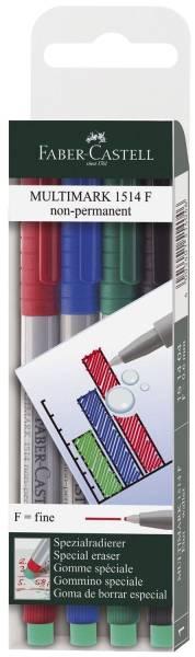 CD Marker MULTIMARK, wasserlöslich, Strichstärke: ca 0,6 mm, 4 Farben, Etui