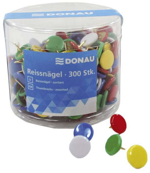 DONAU Reissnägel 300 Stk. sortiert 7832001-99 in Dose