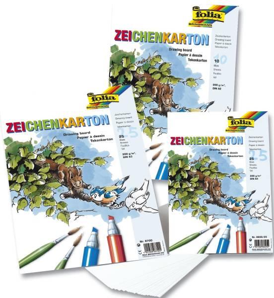 Zeichenkarton 200 g qm, DIN A3, 25 Blatt