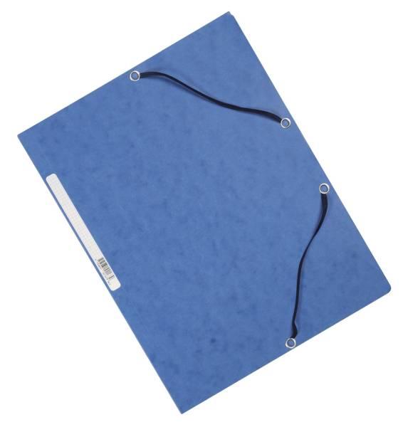 Eckspanner Karton A4 mit Gummizug blau