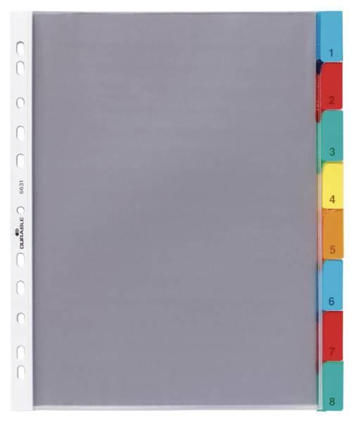 Hüllenregister Folie, blanko, transparent, A4, 8 Blatt