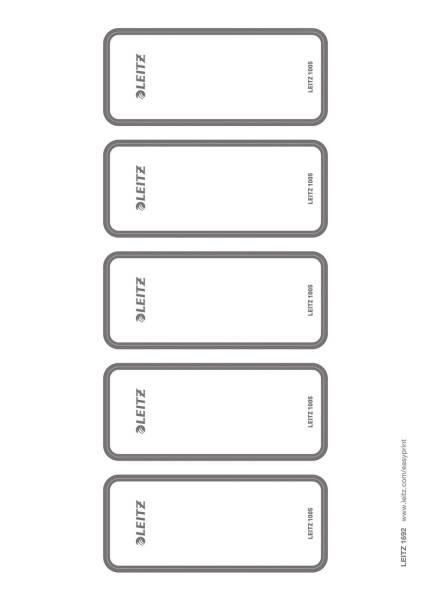 1692 Rückenschild WOW Ordner selbstklebend, PC beschriftbar, breit, 50 Stück, grau