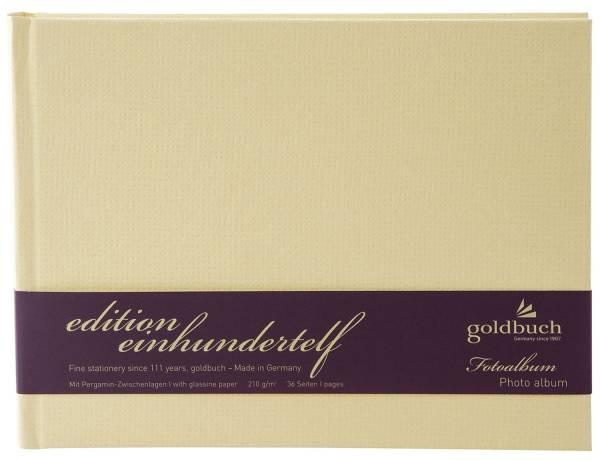 GOLDBUCH Fotobuch Edition 111 beige 19758 22x16cm