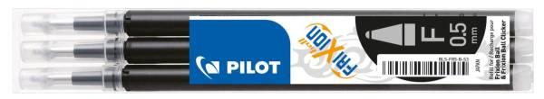 PILOT Rollermine Frix.Click.3St schwarz 2276001F BLS-FR5-S3-B