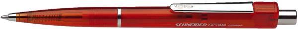 Druckkugelschreiber OPTIMA, rot transparent, M, rot, dokumentenecht