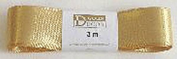 GOLDINA Doppelsatinband 25mmx3m gold 1172025151503