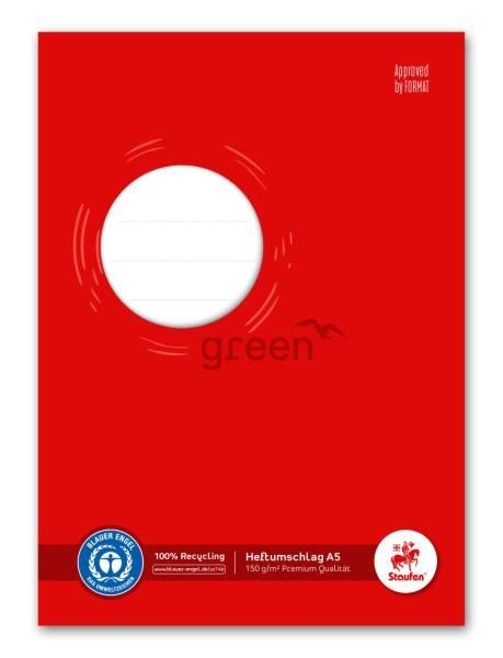 STAUFEN GREEN Heftschoner A5 150g rot Recyclingpapier 794004515