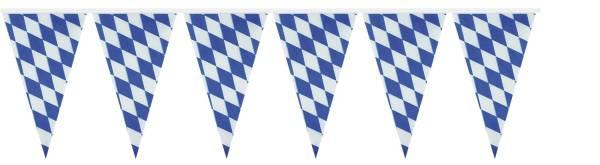 Wimpelkette Bayern weiß blau, 400 x 26 cm