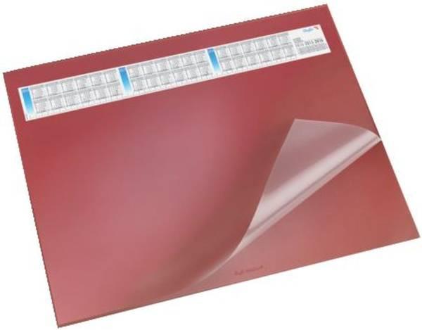 Schreibunterlage DURELLA DS mit Vollsichtauflage, Kalender, 65 x 52 cm, rot