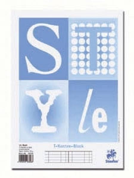 T Konten Block Original Style, A4, 10 Konten je Seite, Blautöne