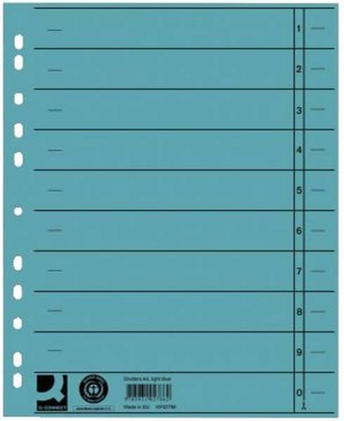 Trennblätter durchgefärbt A4 Überbreite, blau, 100 Stück