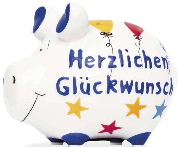 KCG Spardose Schwein klein 101635 Herzlichen Glückwunsch