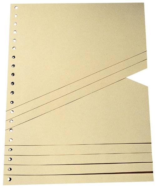 Staffel Trennblätter A4, chamois, 100 Stück