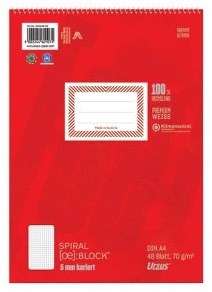 Spiralblock A4 48 Blatt 70g qm 5mm kariert