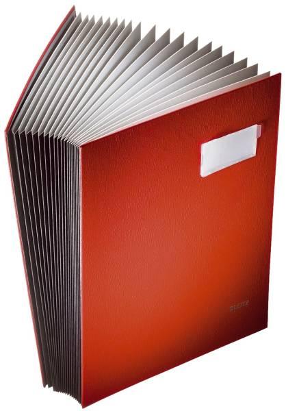 LEITZ Unterschriftsmappe 20 Fächer rot 57000025 Einband PP-kaschiert