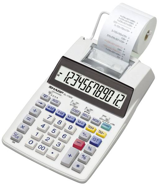 SHARP Tischrechner 12-stellig SH-EL1750V druckend