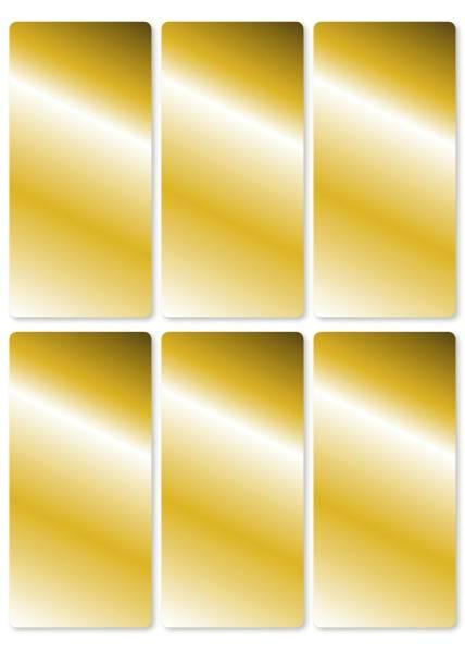 15285 Schmucketikett 26 x 54 mm, 18 Stück, gold