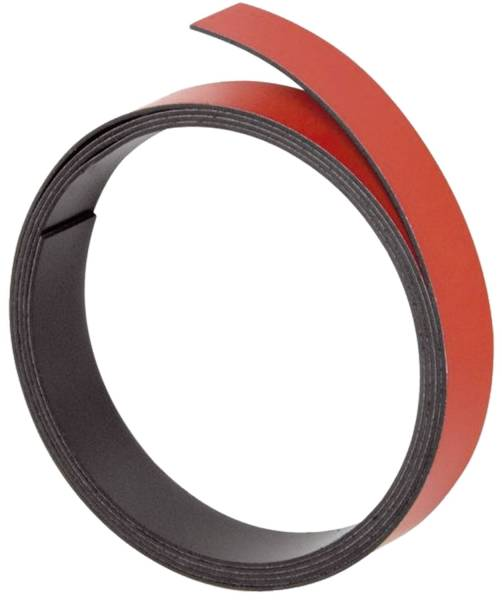 Magnetband 100 cm x 10 mm, rot