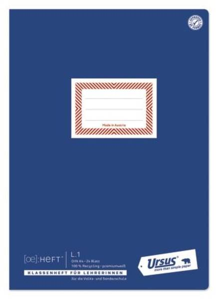 Klassenheft L 1 A4 22 Blatt 80g qm
