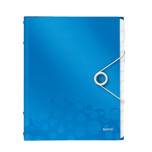LEITZ Ordnungsmappe A4 blau met. 4634-00-36 Wow 12Fäch.
