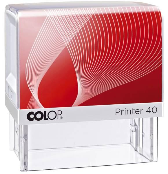 Printer 40 mit Logo für max 6 Zeilen mit Logo, 23 x 59 mm